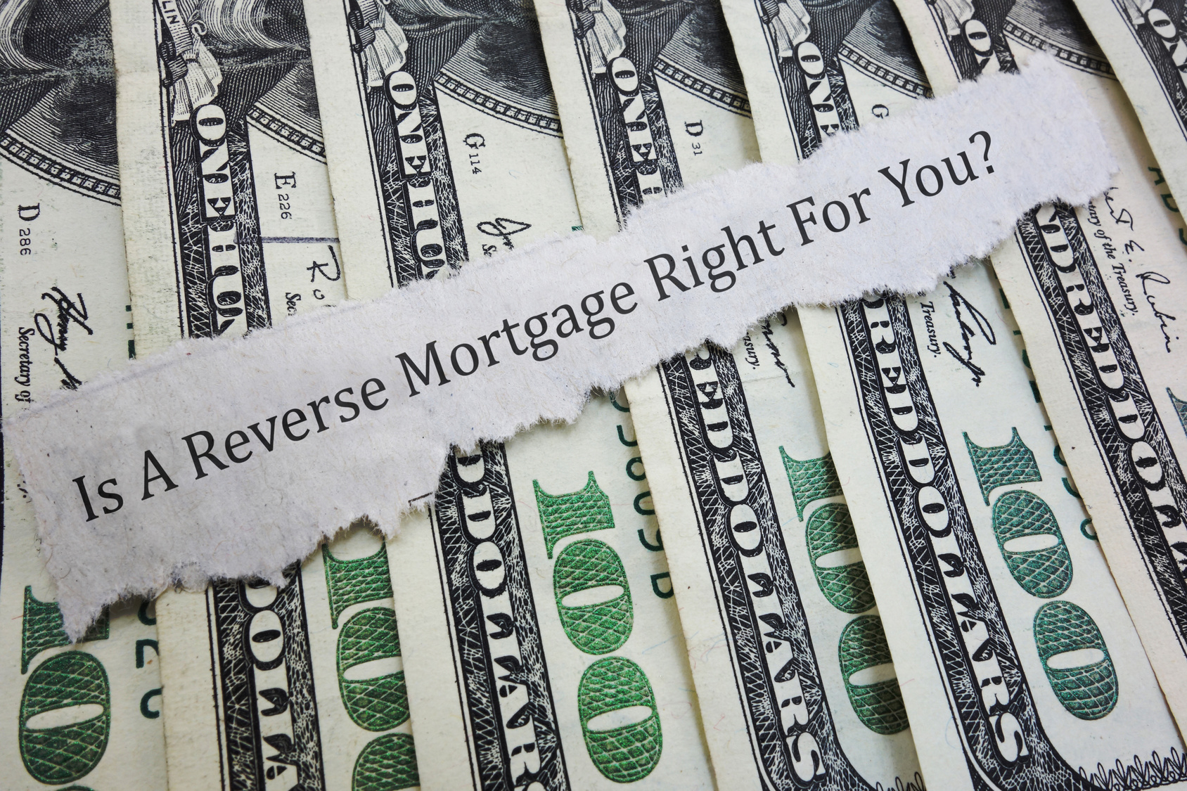 Reverse mortgage headline on money